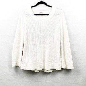 Style & Co Cream white knit sweater